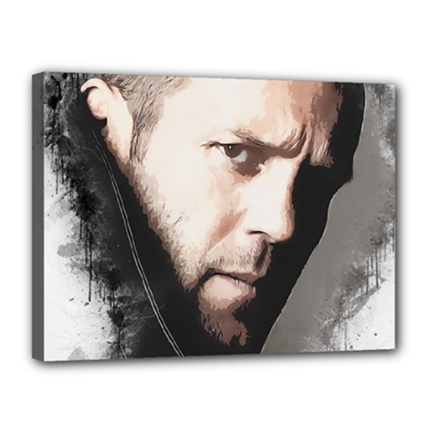 A Tribute To Jason Statham Canvas 16  X 12  by Naumovski