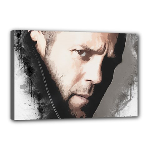 A Tribute To Jason Statham Canvas 18  X 12