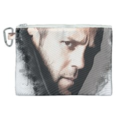 A Tribute To Jason Statham Canvas Cosmetic Bag (xl) by Naumovski