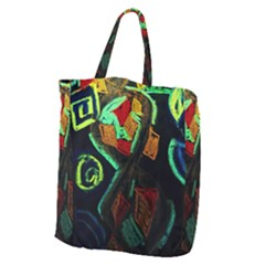 Girls Curiousity 12 Giant Grocery Zipper Tote