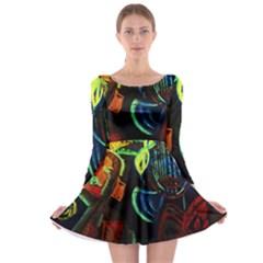 Girls Curiosity 11 Long Sleeve Skater Dress