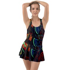 Girls Curiosity 11 Ruffle Top Dress Swimsuit