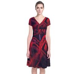 Girls Curiosity 8 Short Sleeve Front Wrap Dress