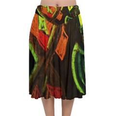 Girls Curiosity 4 Velvet Flared Midi Skirt