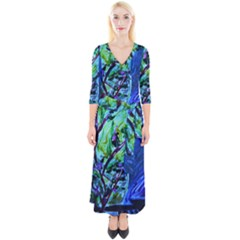 House Will Be Built 1 Quarter Sleeve Wrap Maxi Dress