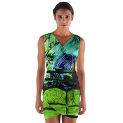 House Will Be Built Wrap Front Bodycon Dress by bestdesignintheworld