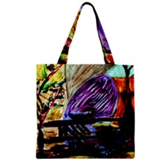 House Will Be Built 6 Zipper Grocery Tote Bag by bestdesignintheworld