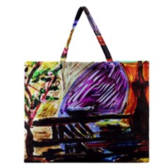 House Will Be Built 6 Zipper Large Tote Bag