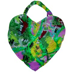 Desert Blooming 1/2 Giant Heart Shaped Tote