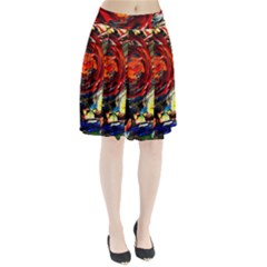 Sunset In A Mountains Pleated Skirt
