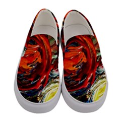 Sunset In A Mountains Women s Canvas Slip Ons