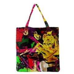 Spooky Attick 1 Grocery Tote Bag by bestdesignintheworld