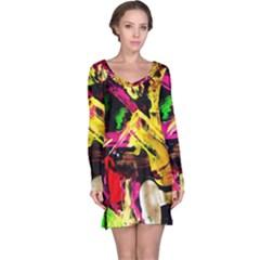Spooky Attick 1 Long Sleeve Nightdress by bestdesignintheworld