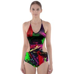 Spooky Attick 2 Cut Out One Piece Swimsuit