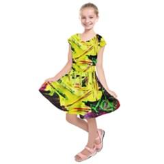 Spooky Attick 3 Kids  Short Sleeve Dress