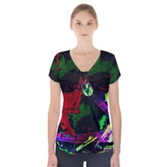 Spooky Attick 4 Short Sleeve Front Detail Top