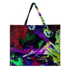 Spooky Attick 5 Zipper Large Tote Bag by bestdesignintheworld