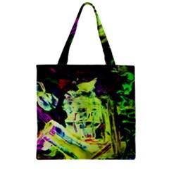 Spooky Attick 10 Zipper Grocery Tote Bag