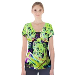 Spooky Attick 10 Short Sleeve Front Detail Top