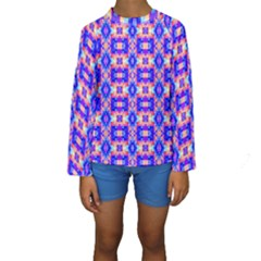 Artwork By Patrick Colorful 33 Kids  Long Sleeve Swimwear