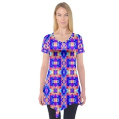 Artwork By Patrick Colorful 33 Short Sleeve Tunic
