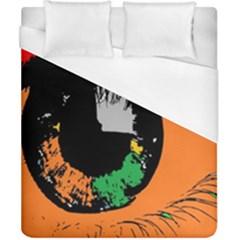 Eyes Makeup Human Drawing Color Duvet Cover (california King Size)
