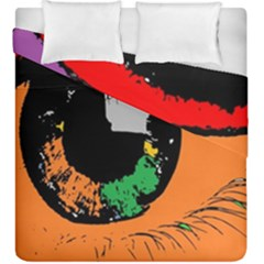 Eyes Makeup Human Drawing Color Duvet Cover Double Side (king Size)