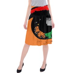 Eyes Makeup Human Drawing Color Midi Beach Skirt