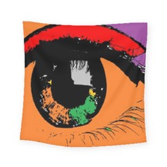 Eyes Makeup Human Drawing Color Square Tapestry (small)