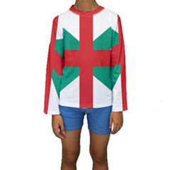 Naval Jack Of Bulgaria Kids  Long Sleeve Swimwear