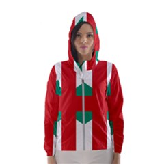 Naval Jack Of Bulgaria Hooded Wind Breaker (women)