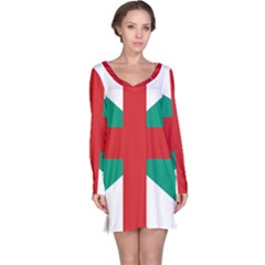 Naval Jack Of Bulgaria Long Sleeve Nightdress