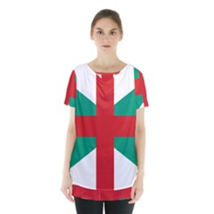 Naval Jack Of Bulgaria Skirt Hem Sports Top