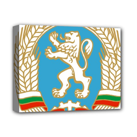 Coat Of Arms Of People s Republic Of Bulgaria, 1971 1990 Deluxe Canvas 14  X 11