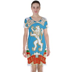 Coat Of Arms Of People s Republic Of Bulgaria, 1971 1990 Short Sleeve Nightdress