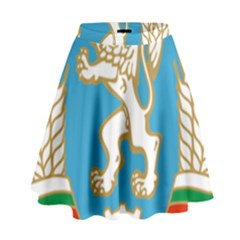 Coat Of Arms Of People s Republic Of Bulgaria, 1971 1990 High Waist Skirt