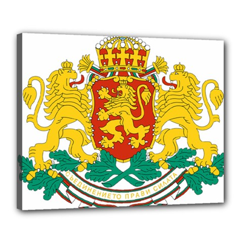 Coat Of Arms Of Bulgaria Canvas 20  X 16  by abbeyz71