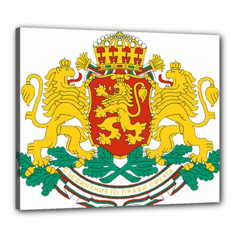 Coat Of Arms Of Bulgaria Canvas 24  X 20