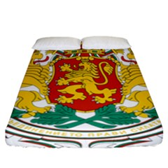 Coat Of Arms Of Bulgaria Fitted Sheet (california King Size)