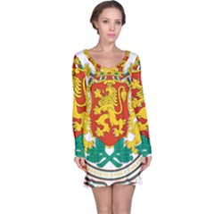Coat Of Arms Of Bulgaria Long Sleeve Nightdress