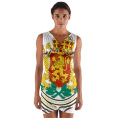 Coat Of Arms Of Bulgaria Wrap Front Bodycon Dress