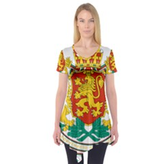 Coat Of Arms Of Bulgaria Short Sleeve Tunic