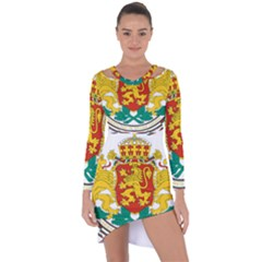 Coat Of Arms Of Bulgaria Asymmetric Cut Out Shift Dress
