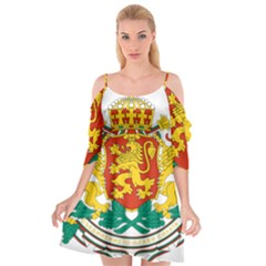 Coat Of Arms Of Bulgaria Cutout Spaghetti Strap Chiffon Dress
