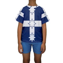 Eureka Flag Kids  Short Sleeve Swimwear
