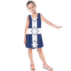 Eureka Flag Kids  Sleeveless Dress by abbeyz71