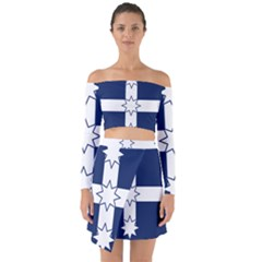 Eureka Flag Off Shoulder Top With Skirt Set by abbeyz71