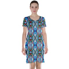 Artwork By Patrick Colorful 34 Short Sleeve Nightdress