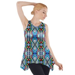 Artwork By Patrick Colorful 34 Side Drop Tank Tunic