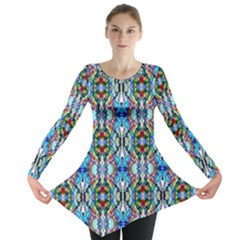 Artwork By Patrick Colorful 34 Long Sleeve Tunic